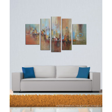 Cheap Leasted Building Abstract Oil Painting