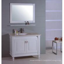 Cabinet de salle de bains en bois blanc (B-311)