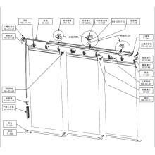 3-Way Panel Track Blind (PB-01)