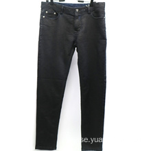 Fashion Coating Black Slim Denim Mens Pant