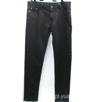 Fashion Coating Black Slim Denim Spodnie męskie