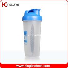 Garrafa de agitação de liquidificador de plástico de 600 ml com interior de bola misturadora de misturador (KL-7017)