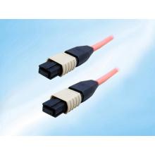 Câble de cordon de raccordement à fibre optique à montage unique / multiple, MTP MPO-Style, 12 fils, sans broches, 9/125, 1 mètre