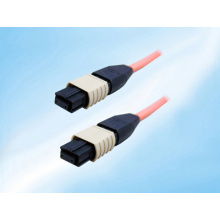 Singlemode/Multiple Fiber Optic Patch Cord Cable, MTP MPO-Style, 12 Strand, Without Pins, 9/125, 1 Meter