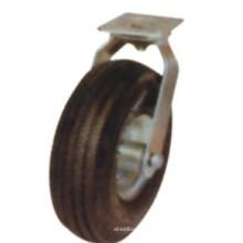 Rueda giratoria de goma negra industrial (FC1000)