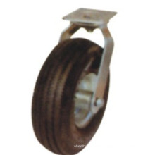 Roulette pivotante en caoutchouc noir industriel (FC1000)