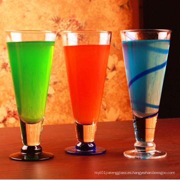 Sin plomo V Forma Copa del partido Copa de vidrio Copa de jugo Copa de copa de vidrio