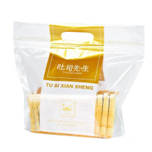 Hot Sale Custom Print Plastic Bread Packaging Bag Resealable Clear Packaging Polybag