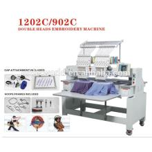 2 heads embroidery machine have the same quality like janome/gemsy embroidery machine