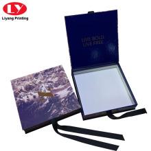 Caja de regalo azul Pañuelo de seda de lujo Embalaje