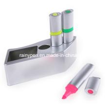 Surligneur 3color dans une boîte en plastique (BF39)