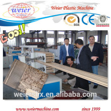 2015 high quality wood plastic wpc profile production line for decking wall panel
