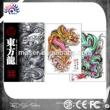 Hot tatuagem venda desenho livro dragão corpo arte tatuagem flash tattoo esboço livro