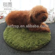 runder langer Teppich der shaggy microfiber Hundedecke groß