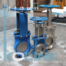 Válvula de Porta de Faca Unidirecional Bi-Direcional Wafer / Lug Tipo