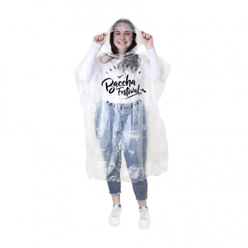LDPE Rainbow Adult Disposable Clear Ponchos