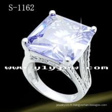 Bague à diamant en argent sterling 925 avec pierres de zircone
