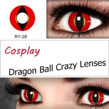Cosplay lentilles de Contact chat frais coloré Contacts lentilles couleur Halloween violet Gragon vert Alt Sharingan avec PP emballage