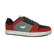 sapatos de skate superior em pu e camurça
