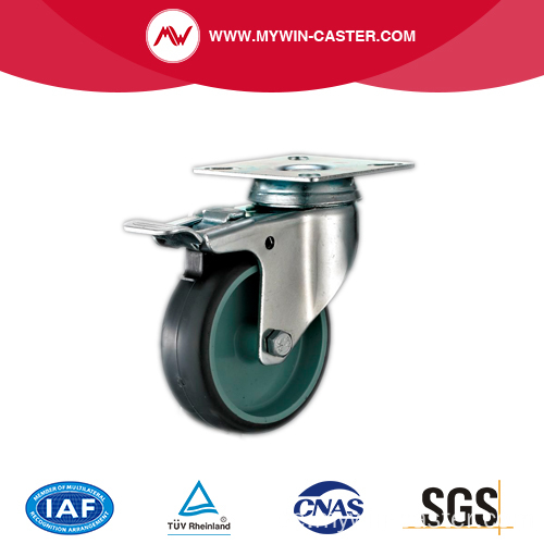 Abgebremstes graues TPR Light Duty Industrial Caster Wheel