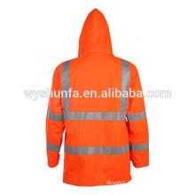 breathable and waterproof reflective police jacket EN ISO 20471