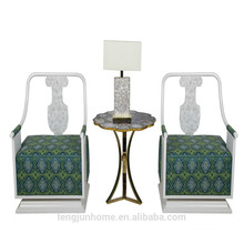 CANOSA chinese fresh water shell decor living room sofa wood furniture