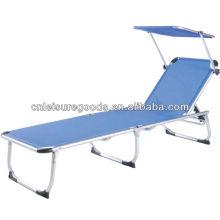 Chaise longue pliante en aluminium