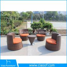 Grupo empilhável barato por atacado do sofá da empresa de China, empilhando o Rattan do sofá