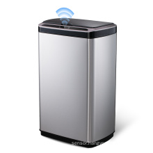 50L touchless trash can 13 gallon trash cans with sensor automatic sensing trash can stainless steel