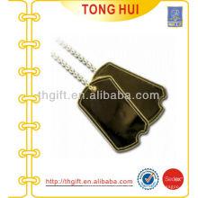 Gold leere Logo Hundemarke Halskette Metall Nachahmung Schmuck
