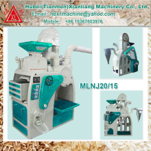 MLNJ20 / 15 máquina de moagem de arroz completa portátil