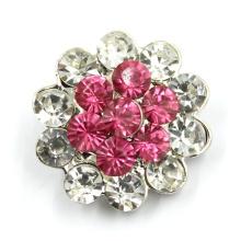 Застежка с кнопкой из металлического сплава с кнопкой Crystal Diamond