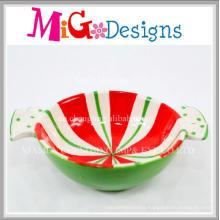 Colorful Cheap Price Christmas Design Ceramic Bowl