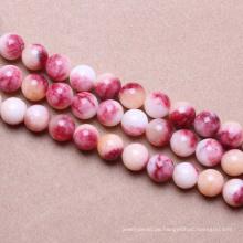 freie Perlen katalogiert glatte rote natürliche Edelsteine runde Perlen