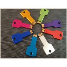 Metal negócio colorido chave forma USB pendrive (em028)