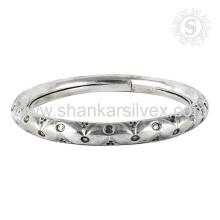Красивая Гравировка Дизайн Браслет 925 Серебряные Ювелирные Изделия Оптовая Индийской Серебряные Украшения