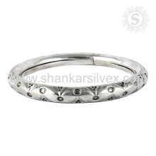 Beautiful Engrave Bangle Design 925 bijoux en argent bijoux en argent sterling en gros