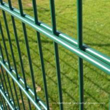 Hot sale powder coated metal double rod mat grid zaun fence twin bar wire welded mesh 868/656/545 fence