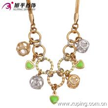 Moda elegante chapado en oro CZ joyas collar 42481
