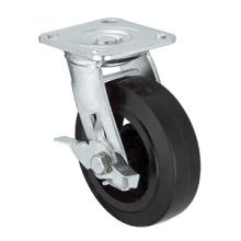 Série de roulettes résistantes - 8 po W / Side Brake - Roue en caoutchouc