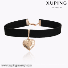 43609 Xuping 18k gold plated heart shaped pendant necklace