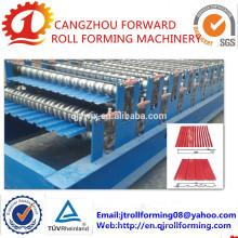 Rollo de techo de perfil corrugado de doble capa que forma la máquina