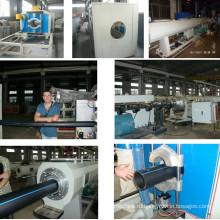 ПНД для газа и воды трубы линия Штранг-прессования/производственная линия трубы