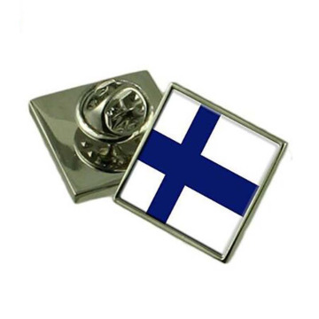Die Struck Engraved Finland Badge Pin Badge