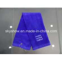 Embroidered Cotton Golf Towel (SST0337)