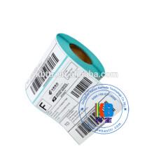 """Étiquette adhésive de transfert thermique de code à barres de papier enduit 4 """"* 6"""""""