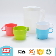 Eco friendly plastic clear bottle set travel cup with kettle