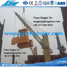 25t Two Ropes Wireless Remote Control Grab on Marine Deck Crane