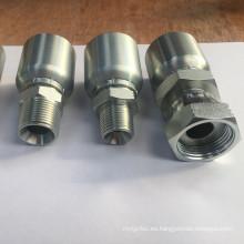 BSP serie estándar de acero galvanizado de carbono de una pieza manguera hidráulica accesorios y manguera