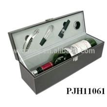Портативный роскоши кожи вина коробка для одной бутылки горячей продажи
